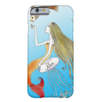Personalized under the sea beautiful mermaid barely there iPhone 6 case