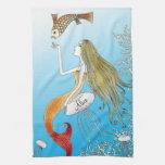 Personalized under the sea beautiful mermaid hand towel