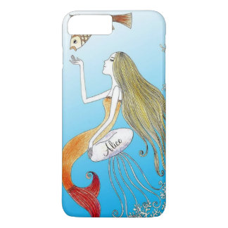 Personalized under the sea beautiful mermaid iPhone 7 plus case