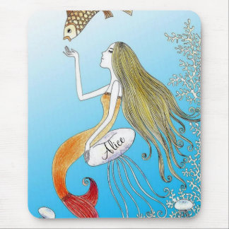 Personalized under the sea beautiful mermaid mouse pad