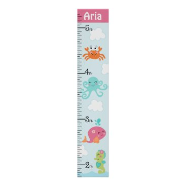 Toddler & Baby themed Personalized Under the Sea/Girls Growth Chart