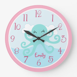 Personalized Under the Sea life Octopus Clock