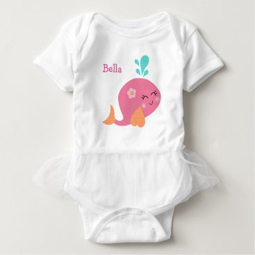 Toddler & Baby themed Personalized Under the Sea Pink Whale Baby Shirt