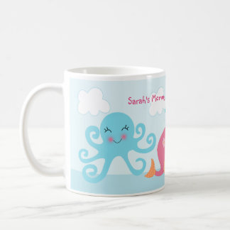 """Personalized """"Under the Sea/Pink Whale/Girl"""" Mug"""