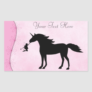 Personalized Unicorn and Fairy Silhouette Stickers