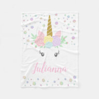 Personalized Unicorn Baby Blanket