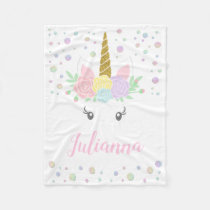 Personalized Unicorn Baby Blanket