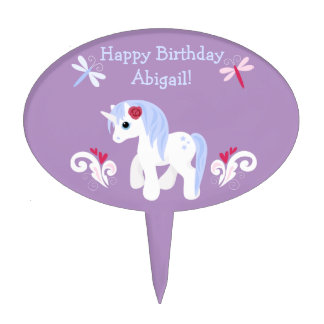 Personalized Unicorn Birthday Cake Topper
