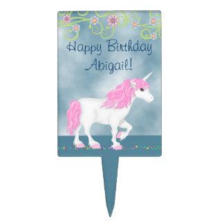 Personalized Unicorn Birthday Cake Topper