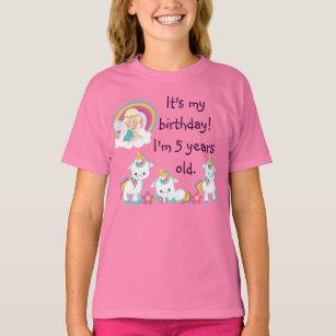 Personalized Unicorn Birthday Party Shirt