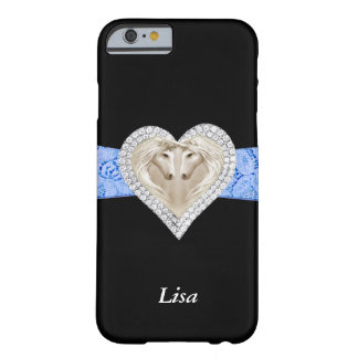 Personalized Unicorn Blue Lace iPhone 6 Case