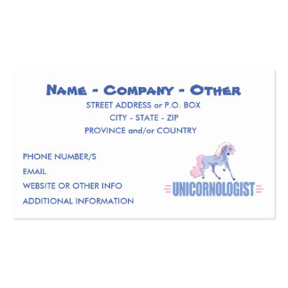 Personalized Unicorn Double-Sided Standard Business Cards (Pack Of 100)