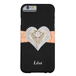 Personalized Unicorn Orange Lace iPhone 6 Case