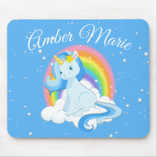 Personalized Unicorn Rainbow Floating Mouse Pad