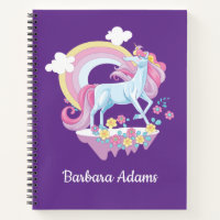 Personalized Unicorn Sketchbook Notebook