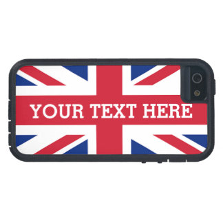 Personalized Union Jack Flag Case For iPhone SE/5/5s