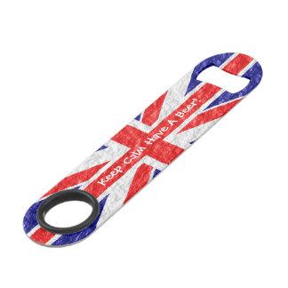 Personalized Union Jack Flag Design Bar Key