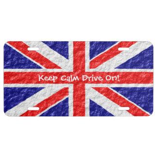 Personalized Union Jack Flag Design License Plate