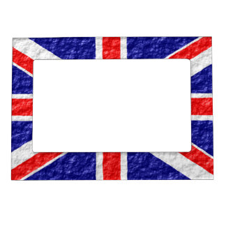 Personalized Union Jack Flag Design Magnetic Frame
