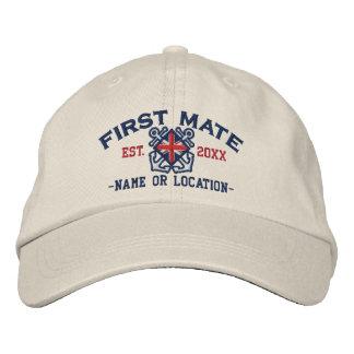 Personalized Union Jack Flag First Mate Nautical Baseball Cap