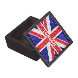 Personalized Union Jack Flag Jewelry Box