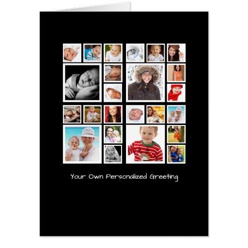 Personalized Unique Photo Collage Card