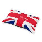 Personalized United Kingdom UK Union Jack Flag Small Dog Bed