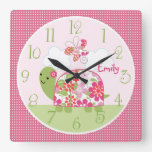 Personalized Upon A Pond/Turtle/Butterfly Clock