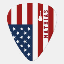 personalized USA flag guitar music Guitar Pick