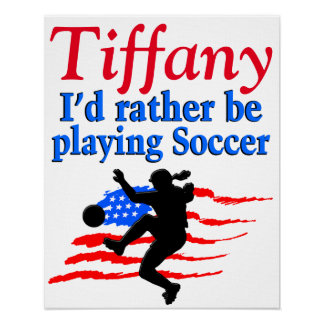 PERSONALIZED USA SOCCER PLAYER POSTER