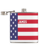 Personalized USA United States Flag Patriotic Flasks