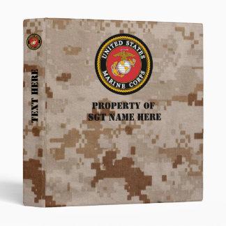 Personalized USMC Notebook Binder