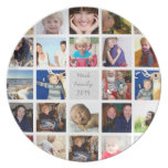 Personalized Vacation Photo Collage Dinner Plate