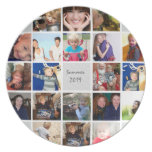 Personalized Vacation Photo Collage Plate