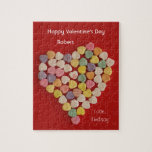 Personalized Valentine Jigsaw Puzzle Gift in Tin