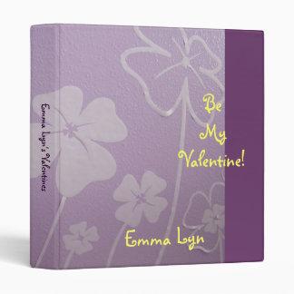 Personalized Valentine's binders Be Mine Flowers
