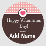 Personalized Valentines Day Treat Sticker