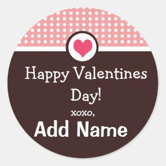 Personalized Valentines Day Treat Sticker