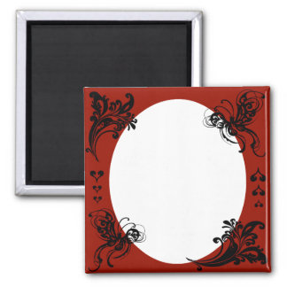 Personalized Valentine's Frame 2 Inch Square Magnet