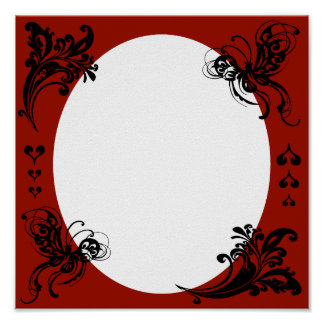 Personalized Valentine's Frame Poster
