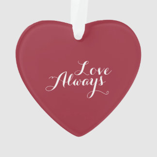 Personalized Valentine's Heart Ornament