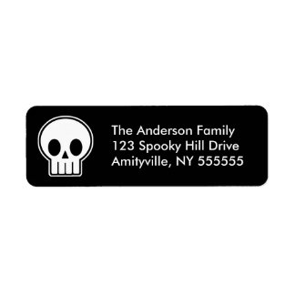 Personalized Vector Skull Return Address Labels