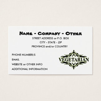 Personalized Vegetarian Business Card