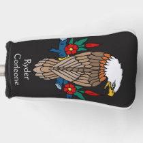 Personalized Vibrant American Bald Eagle Golf Head Cover