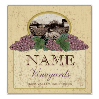 Personalized Vineyard Poster