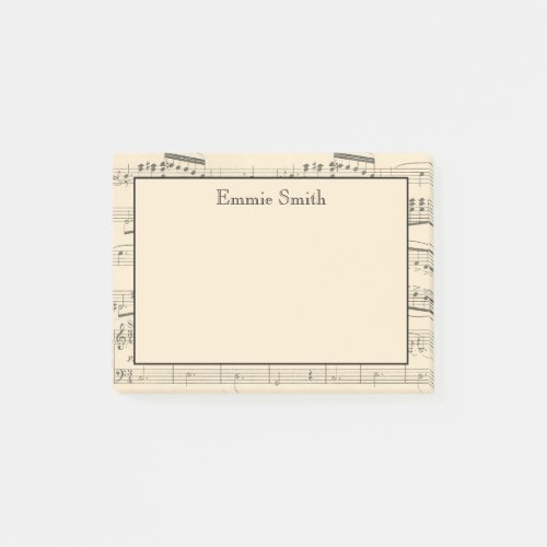 Personalized Vintage Antique Sheet Music Post_it Notes