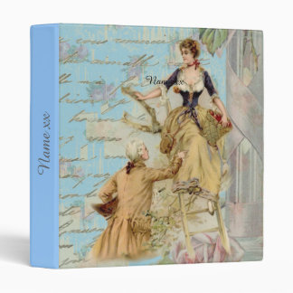 Personalized vintage art romantic couple gifts binder