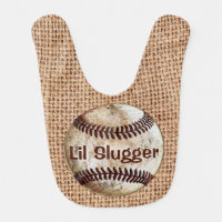 PERSONALIZED Vintage Baseball Baby Gifts, BIB
