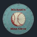 "Personalized Vintage Baseball Dartboard<br><div class=""desc"">Personalized Vintage Baseball Dartboard For his man cave!</div>"