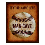 PERSONALIZED Vintage Baseball Man Cave Wall Decor